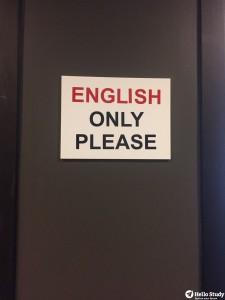 嚴格執行English Only Policy